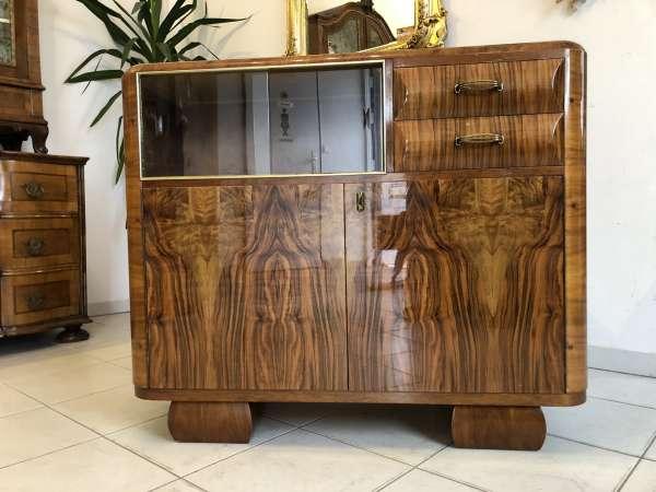 Art Deco Bauhaus Sammlerschrank Vitrine Küchenschrank Z1467