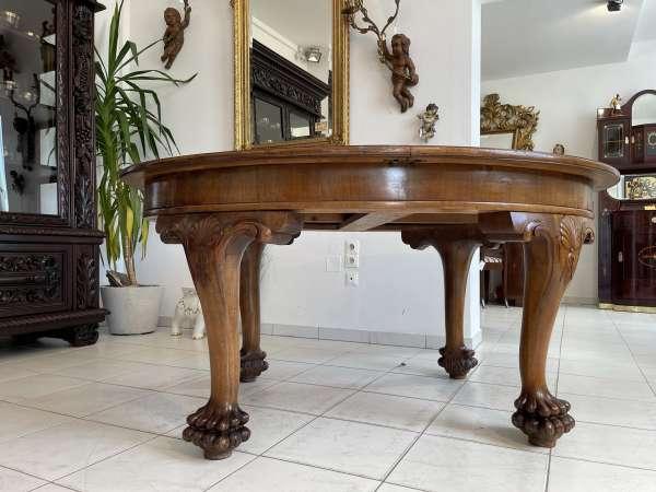 originaler Art DECO Tisch Esstisch Rittertisch Auszugtisch A2721