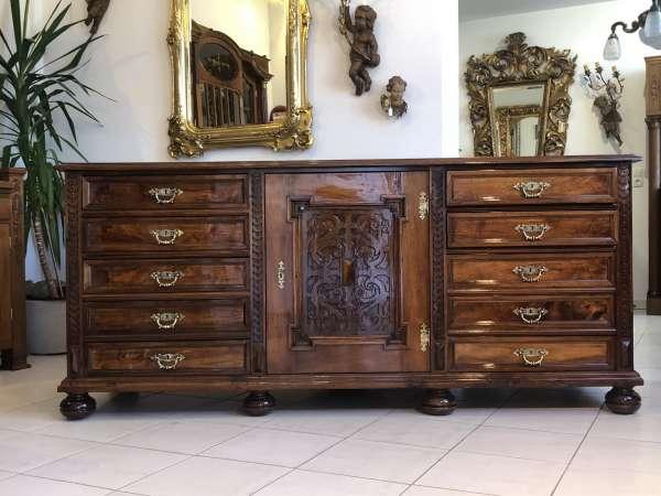 originale restaurierte Anrichte Historismus Buffet Sideboard Z1997