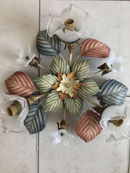 venezianischer Luster floraler Deckenleuchter Blätterform Z1690