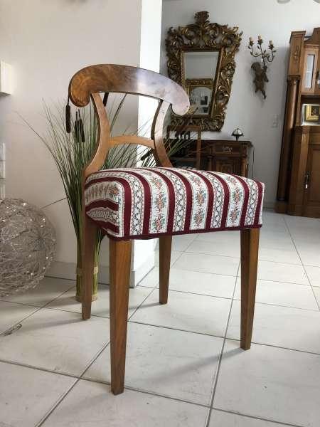 Biedermeier Sessel = 1 Stück Nussholz Schaufelsessel Original Z1863