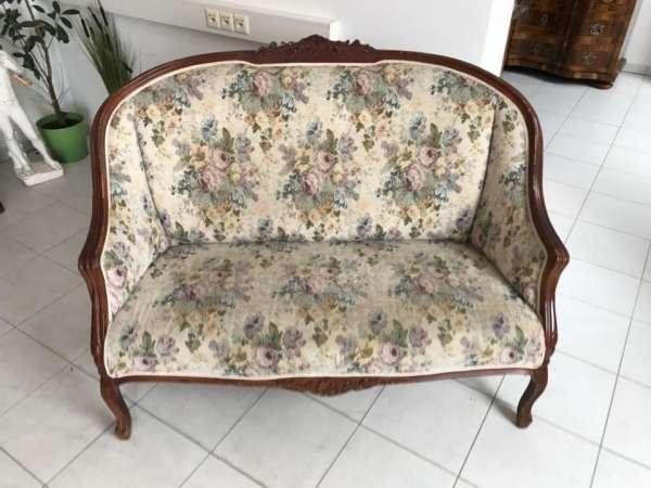 hübsches Sofa Couch Diwan Barockstil Stoffbezug W2053