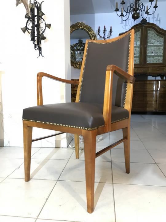 restaurierter thonet stuhl sessel schreibtisch armlehnstuhl designerstuhl w3578 antike. Black Bedroom Furniture Sets. Home Design Ideas