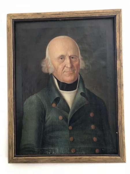 Frühes Biedermeier Ölgemälde Herrenporträt . sig. F. I. Müller Jahr1810 X1901