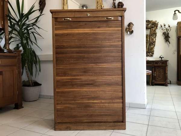 originaler Rolladenschrank Büroschrank Rolladenkasten Jugendstil Z2122