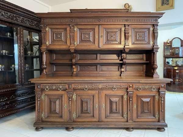 Historismus Aufsatzbuffet Aufsatzkredenz Altarschrank A2674