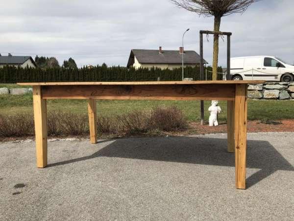alter Tisch Bauerntisch Jogltisch Landhaustisch Naturholz Brettholztisch 2,0m X1458