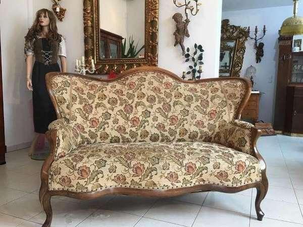 hübsches originales Spätbiedermeier Sofa Diwan Couch A1645