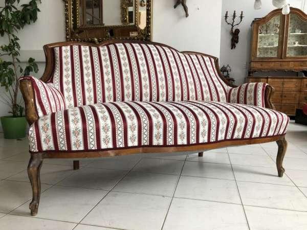 Spatbieermeier Sofa Diwan Liege Couch Traum Restauriert X1683