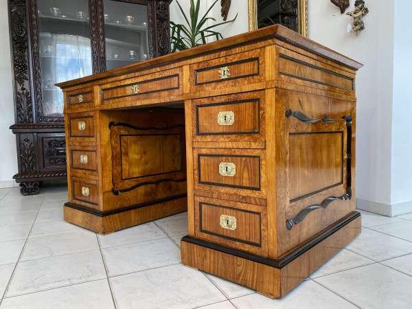 restaurierter Biedermeier Schreibtisch Architektenschreibtisch A2639