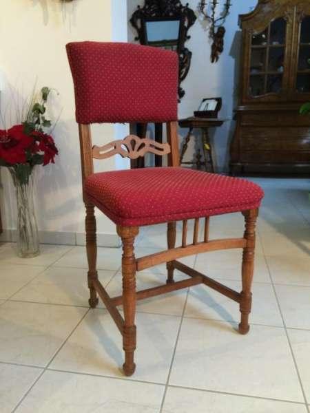 originaler Gründerzeit Stuhl Sessel gedrechselt Nr. 7358