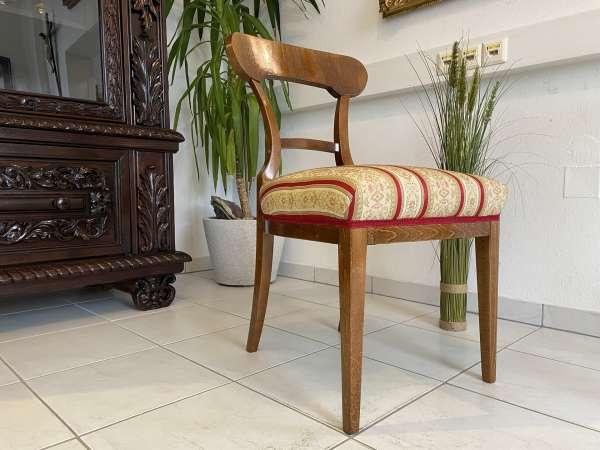 Biedermeier Sessel Nussholz Schaufelsessel Original A2516
