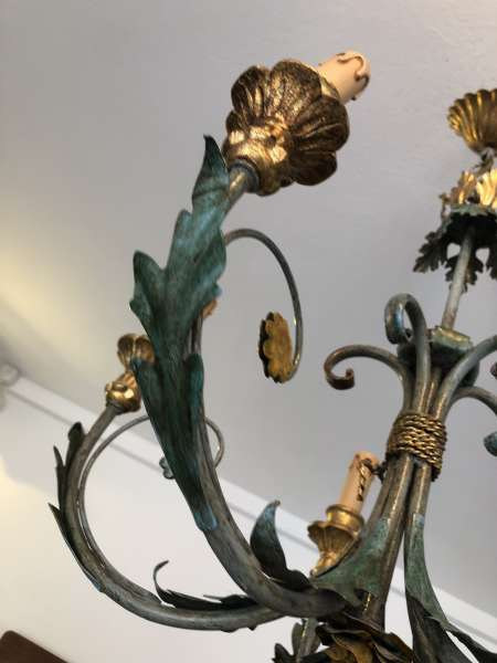 venezianischer Luster floraler Deckenleuchter Blätterform Z1694