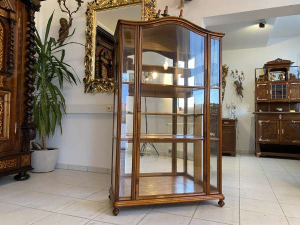 restaurierte Spätbiedermeier Vitrine Bücherschrank Glasschrank A2255