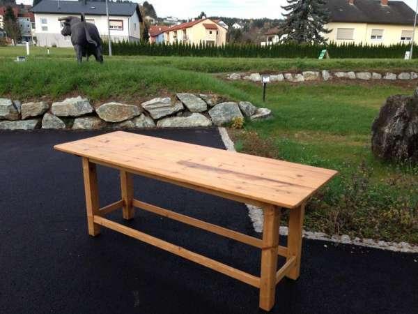 massiver Bauerntisch Massivholz Landhaustisch Naturholz Tisch Nr.5999