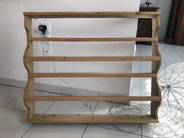 zierliches Bauernregal Stellage Tellerboard Naturholz Z1808