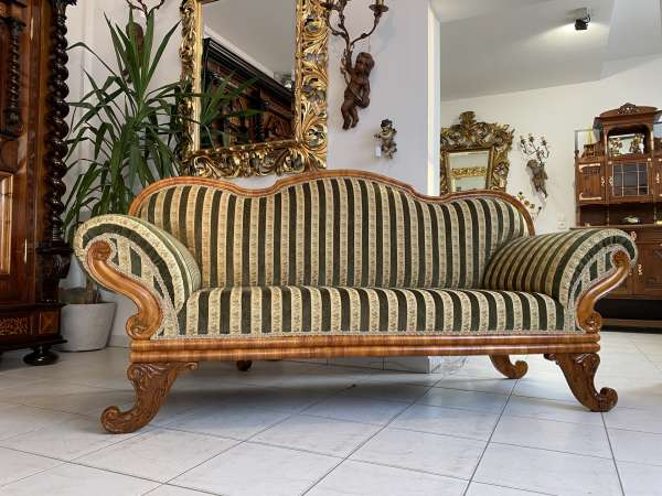 originales restauriertes Biedermeier Sofa Couch A2226