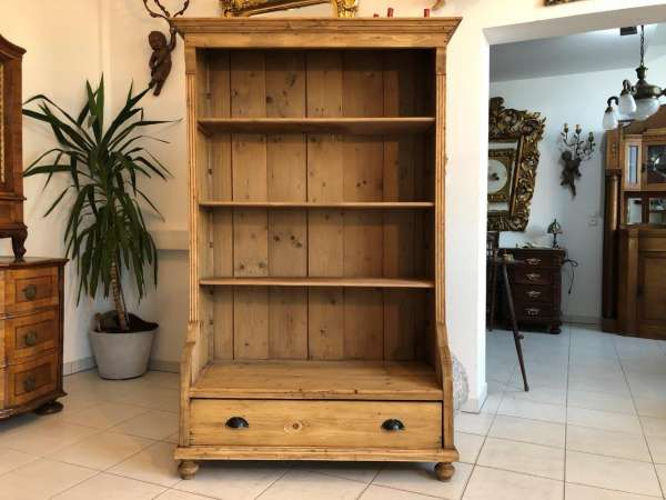 altes Bücherregal Stellage Gründerzeit Bücherschrank Naturholzmöbel Z1225