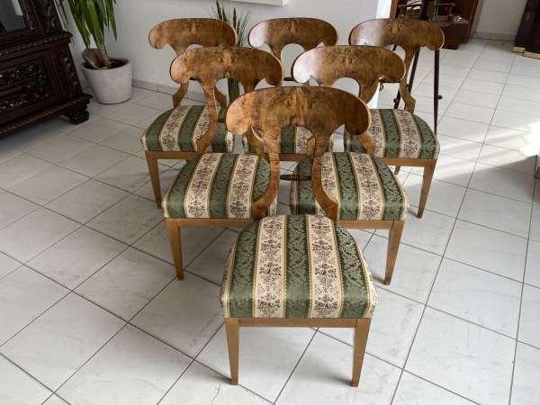 Biedermeier Sessel Nussholz Schaufelsessel = 1 Stück A2556
