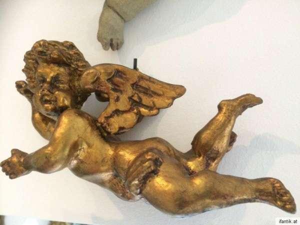 schwebende Engelsfigur Engel Holzfigur Holzschnitzerei Nr. 8370