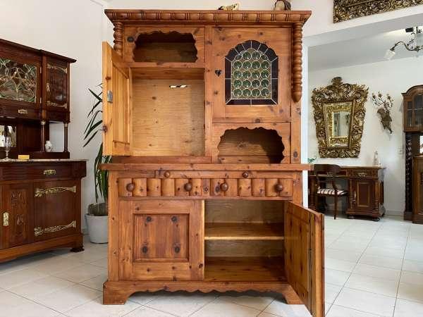 hübsche Zirbenholz Kredenz Küchenvitrine Küchenschrank E2016