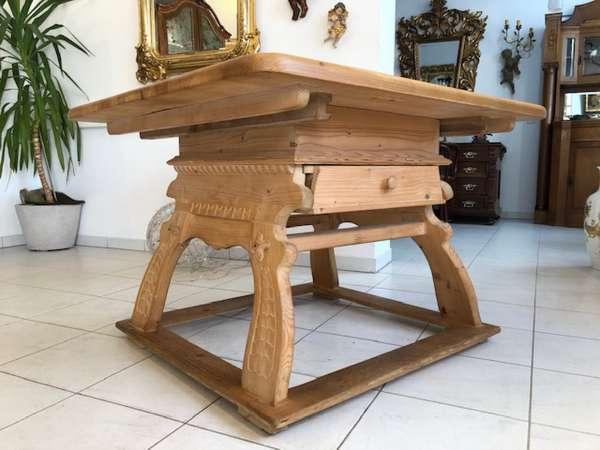 alter Bauerntisch Jogltisch Tisch Landhaustisch Naturholz Z1074
