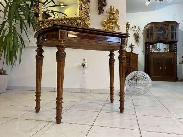 restaurierter Gründerzeit Spieltisch Tisch Schachtisch Konsoltisch E2266