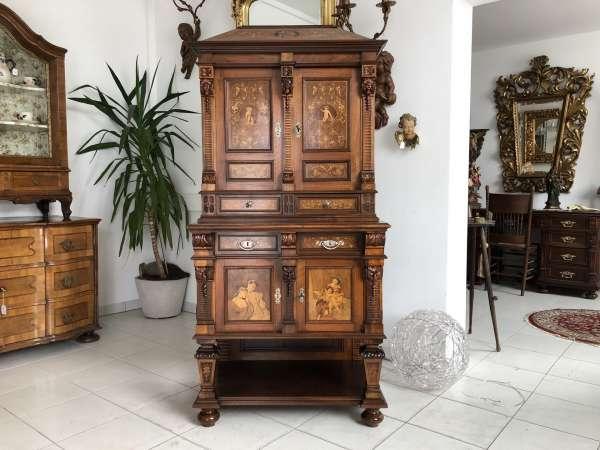 originaler Historismus Kabinettschrank Engelsschrank Traumstück Z1614