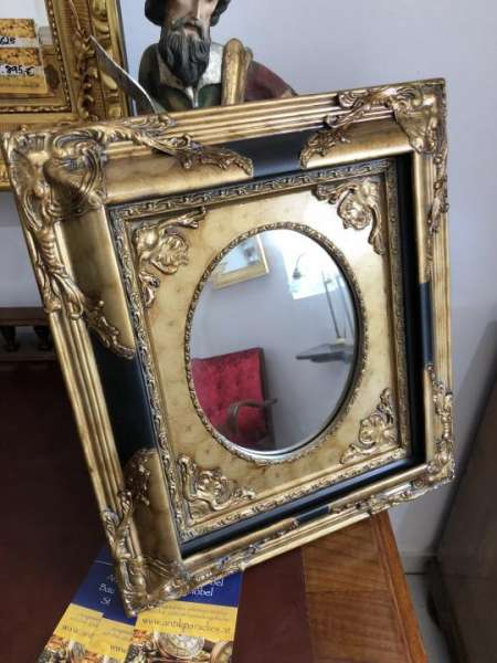 floraler Wandspiegel Spiegel Barock Stil geschliffen - X1841