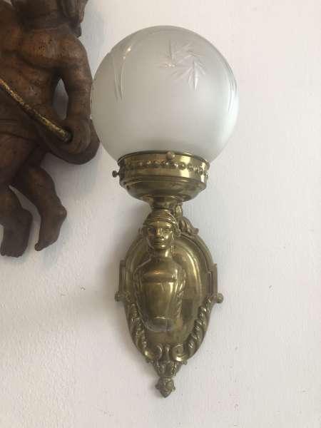 barocker Wandleuchte Frauenkopf Leuchte Designerlampe Z1852