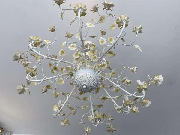 venezianischer Luster floraler Deckenleuchter Rosenluster A2613