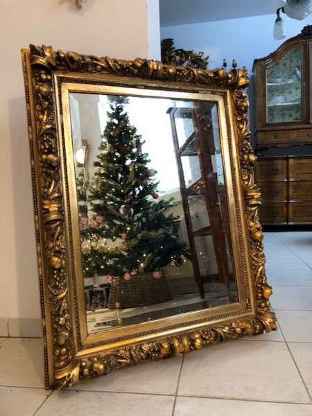 prächtiger Biedermeier Spiegel Holzspiegel original Z1031
