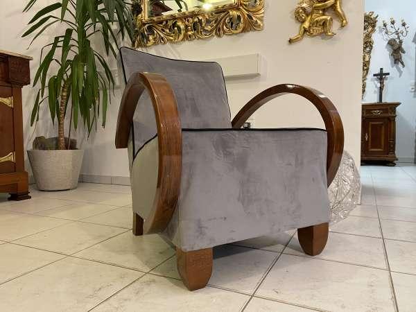restaurierter Art Deco Fauteuil Armlehnstuhl Designersessel E2304