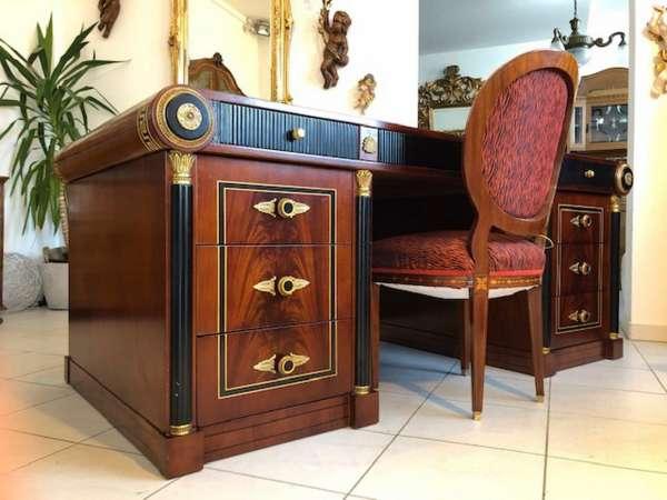 prachtvoller Schreibtisch Barockstil Herrenschreibtisch Z1175