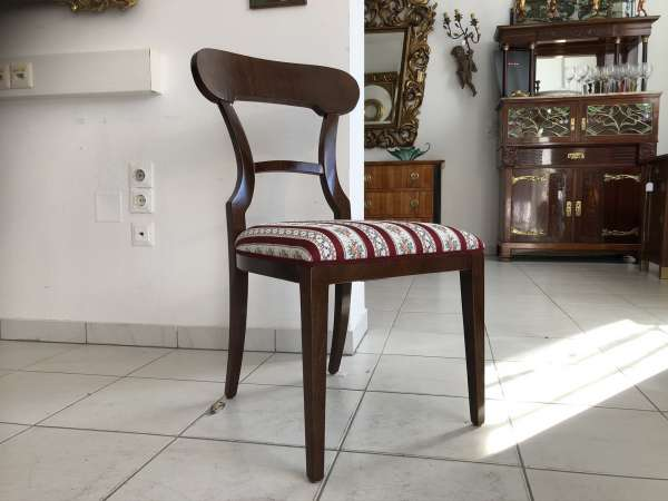 Biedermeier Sessel Nussholz Schaufelsessel Stilmöbel E1320