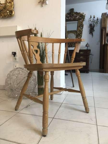 Bauernsessel Sessel Stuhl Armlehnstuhl Eichenholz Z1332