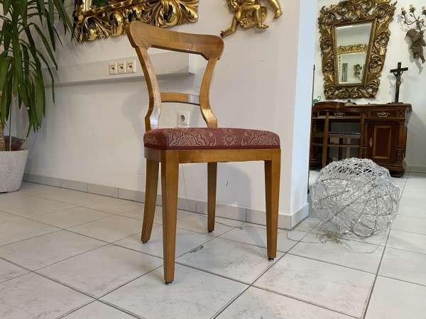 Biedermeier Sessel Nussholz Fledermaus Stuhl E2176