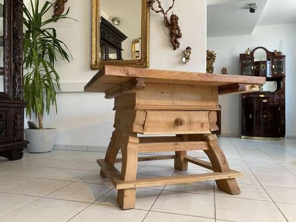 schwerer Bauerntisch Jogltisch Tisch Landhaustisch 107 x 107 A2474