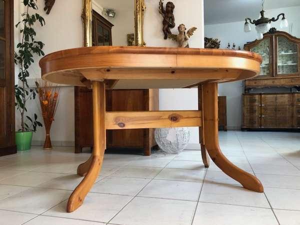 bäuerlicher ovaler Tisch Auszugtisch Kiefernholz X2506