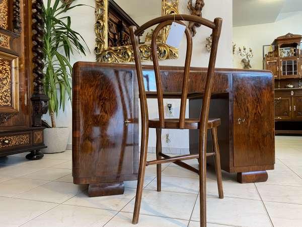 restaurierter Sekretär Art Deco Schreibtisch Büroschreibtisch Freisteher A2271
