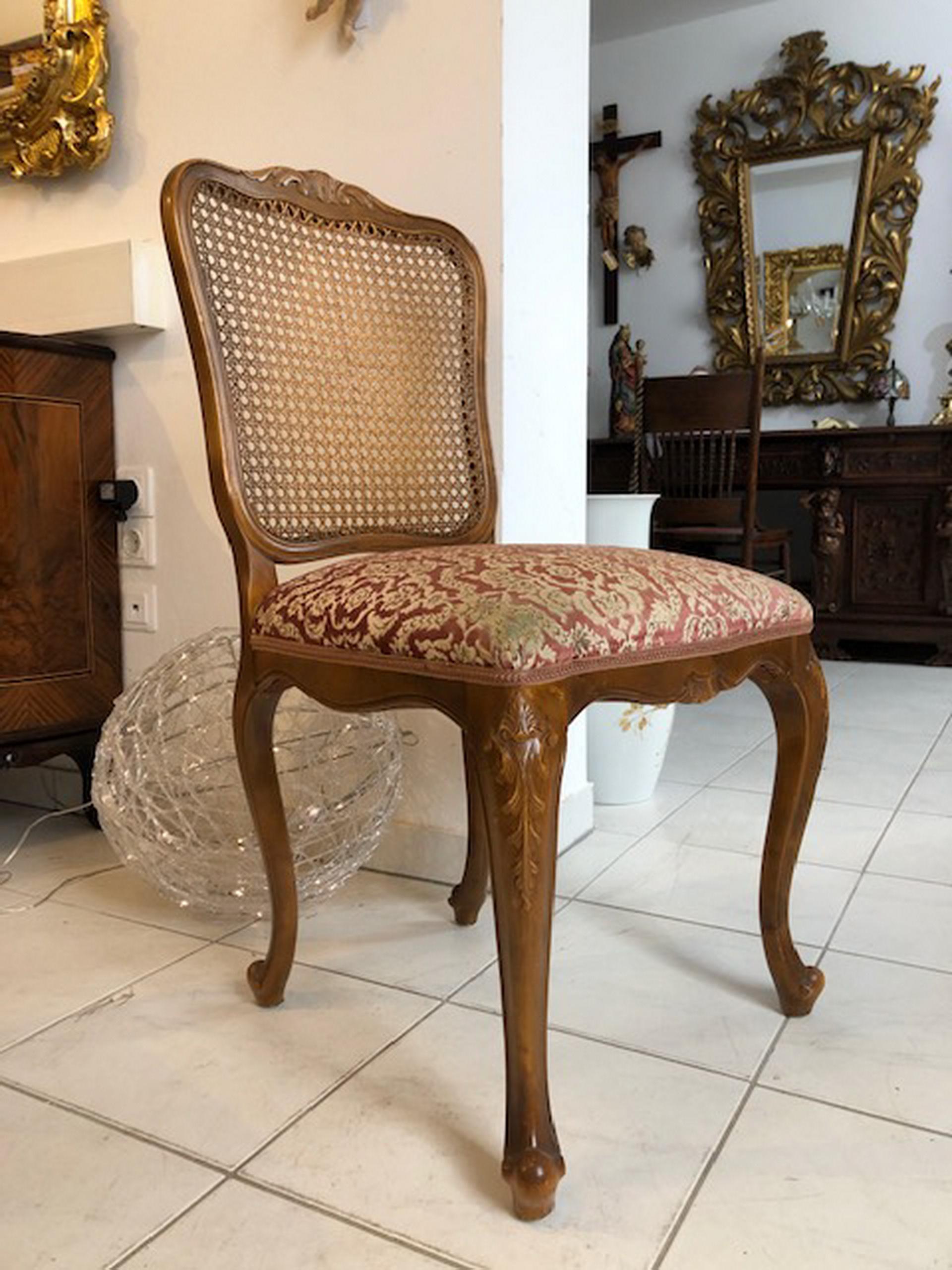 Hübscher Chippendale Sessel Stuhl Rattangeflecht X2033