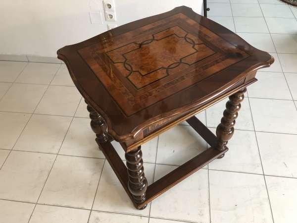 originaler Barock Tisch marketiert Beistelltisch Intarsiert Z1430