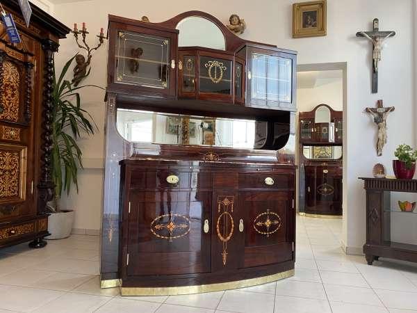 restauriertes Jugendstil Aufsatzbuffet Bücherschrank Traum A2438