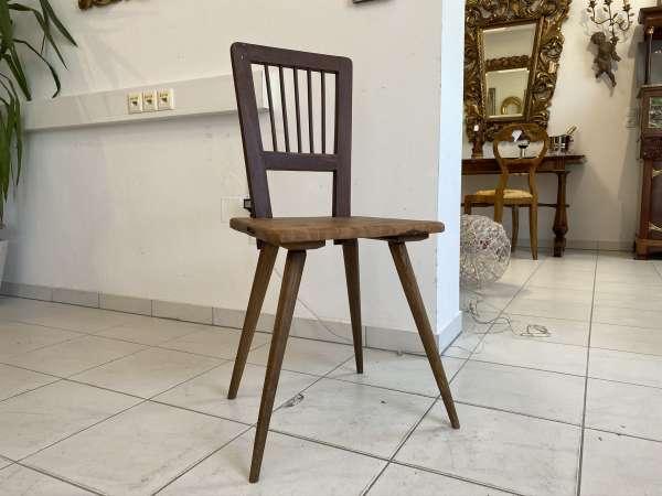 alter uriger Bauernsessel Sessel Stuhl Brettstuhl E1654