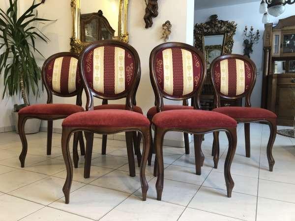 Ensemble hübscher Barockstil Sessel Stuhl Medaillonstühle Z1424