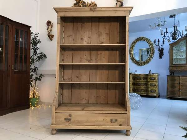 altes Bücherregal Stellage Gründerzeit Bücherschrank Naturholzmöbel Fichte- W3452