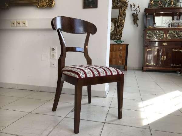 Biedermeier Sessel Nussholz Schaufelsessel Stilmöbel E1318