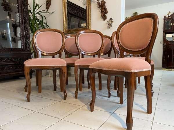 Ensemble 12 hübscher Barockstil Sessel Medaillonstühle A2679