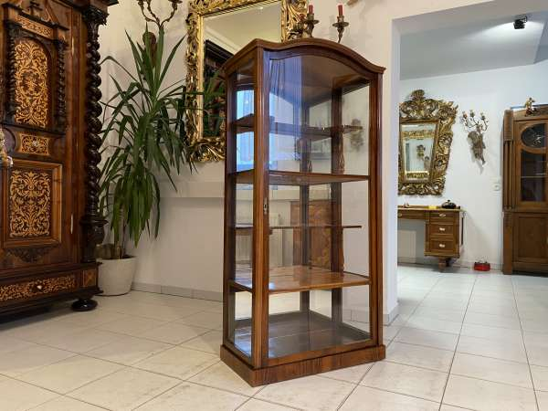 restaurierte Spät Biedermeier Vitrine Glasschrank A2196