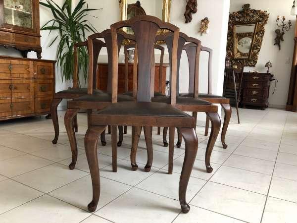 6er Jugendstil Ensemble Sessel Sitzensemble Z1207